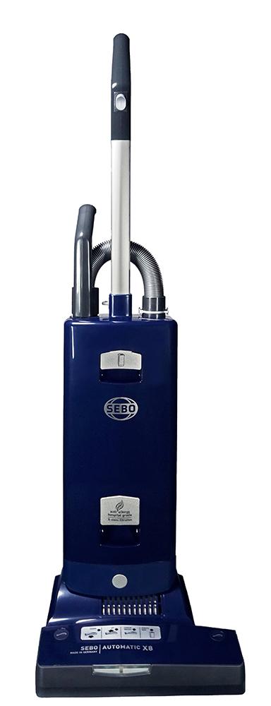 91566AM - AUTOMATIC X8 Blue - Angled DSC04438 - SEBO Canada upright vacuum cleaners