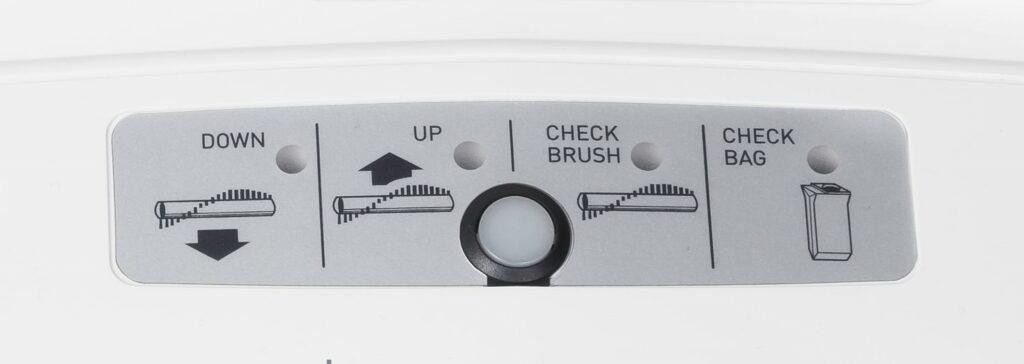 Vacuum warning indicators