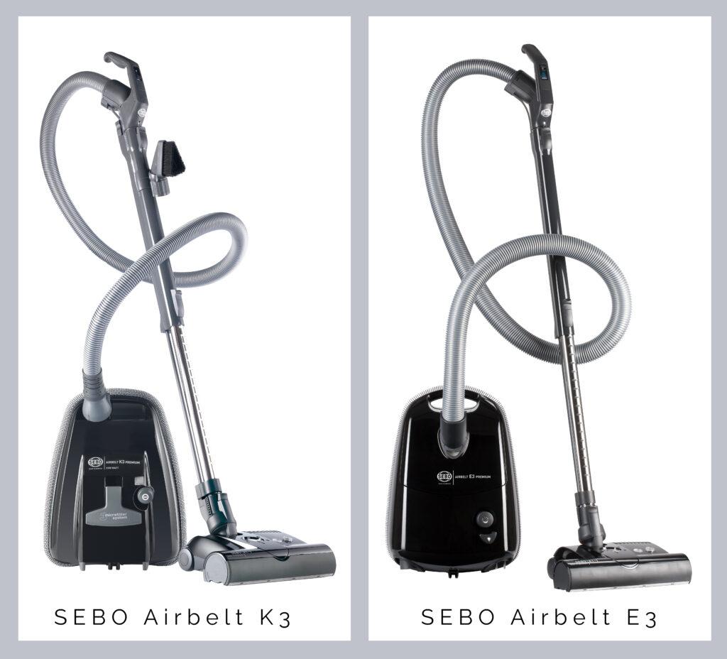 Sebo vacuum comparison of the K3 and the E3 in black